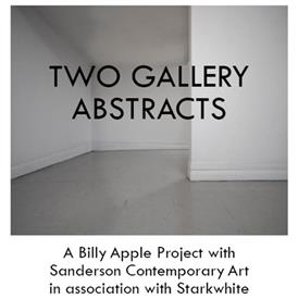 Two Gallery Abstracts - Billy Apple